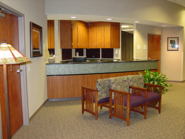 Reception area after construction